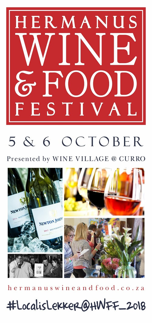 Hermanus Wine and Food Festival 5th & 6th OCT 2018