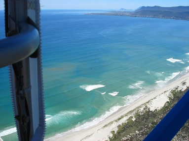 Hermanus, Grotto Beach and Walker Bay viewed from Micro-light