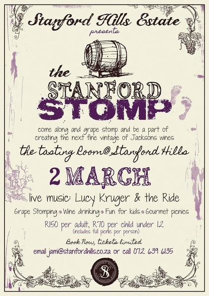 Stanford Hills Wine Stomp 2nd March 2013