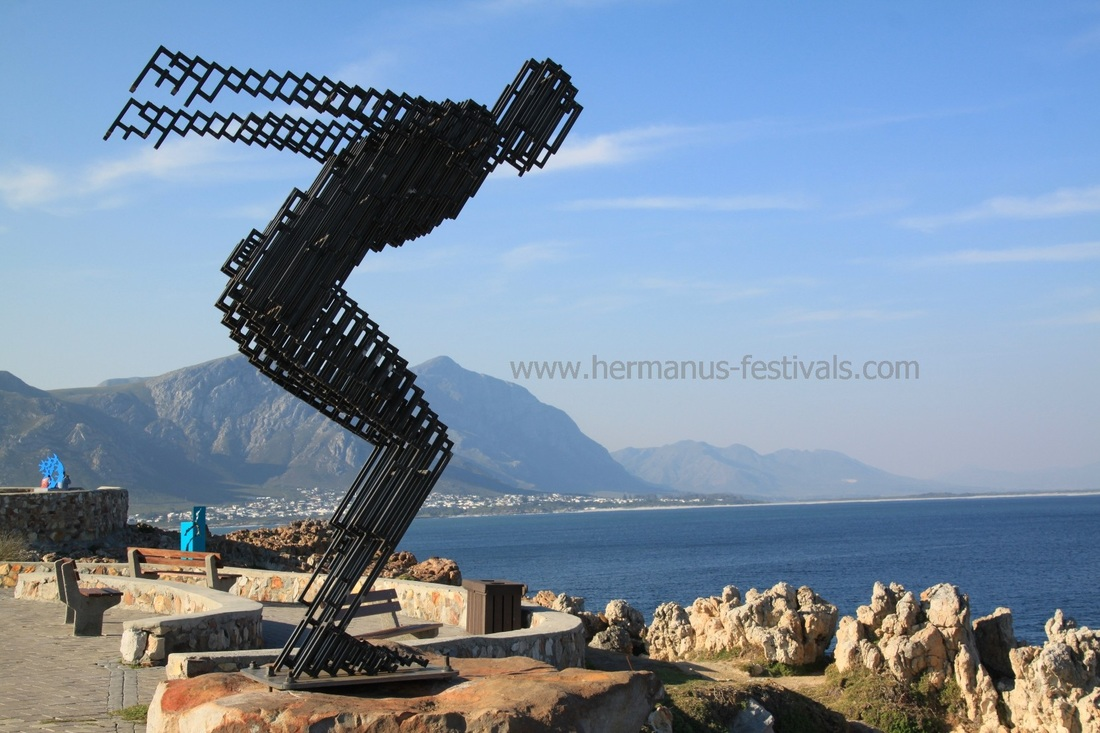 Fynarts Festival in Hermanus statues at Gearing Point 2016