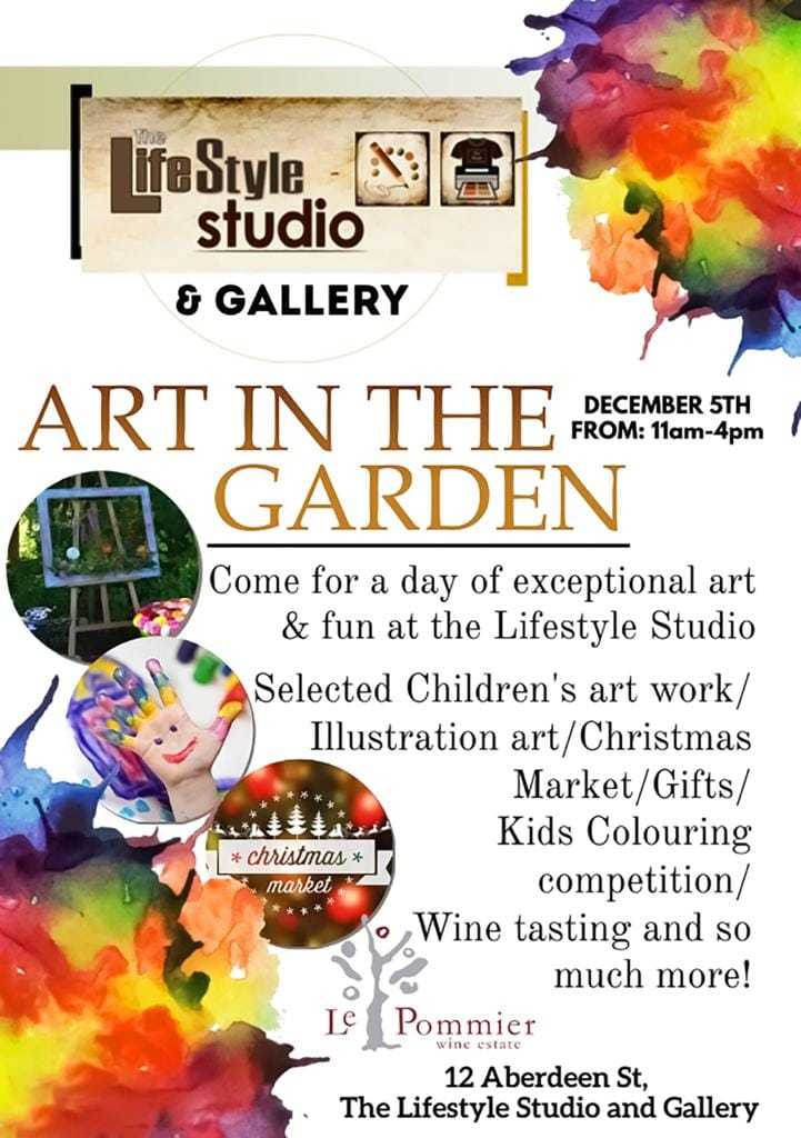 5th Dec, 2020 - 11am to 4pm - Art in the Garden, Hermanus