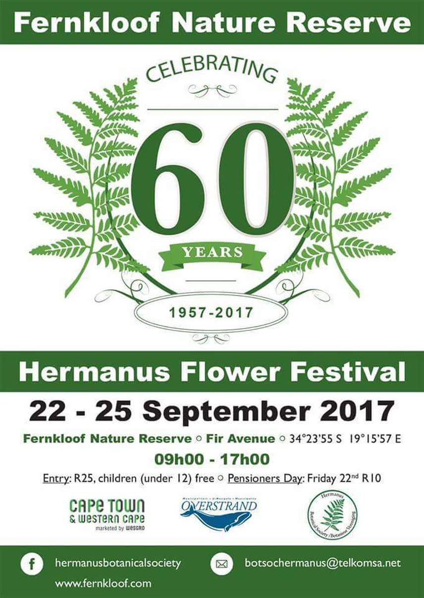 Hermanus Flower festival at Fernkloof 22nd to 25th Sept