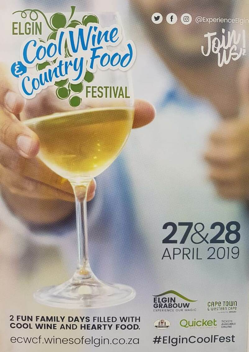 Elgin Cool Wine, Country Food Festival 27th and 28th April 2019