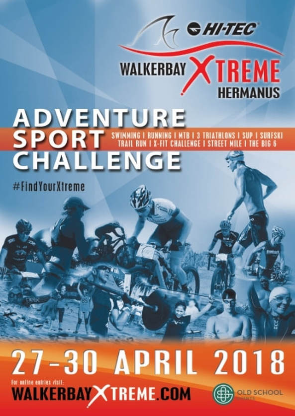 Hermanus Walkerbay Xtreme Sports Festival is on 27th to 30th April, 2018