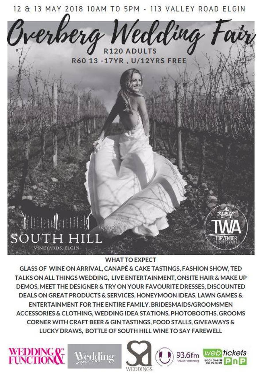 Wedding festival at South Hill winery Elgin 12th and 13th May 2018