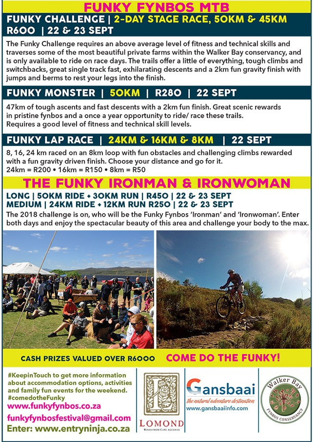 Funky Fynbos Festival - 22nd to 23rd Sept 2018