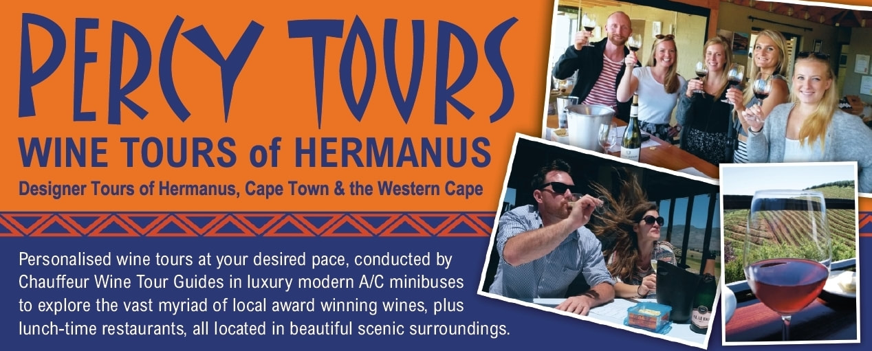 Wine Tours of the 100's of incredible wineries and vineyards of Hermanus and beyond - with registered Cape Wine Academy Tour Guided in luxury air-con vehicles