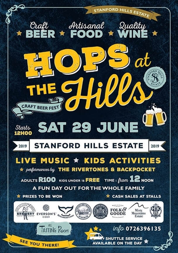 Hops at the Hills, Stanford Hills Winery - Festival 29th June 2019